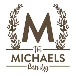 personalized family name and monogram
