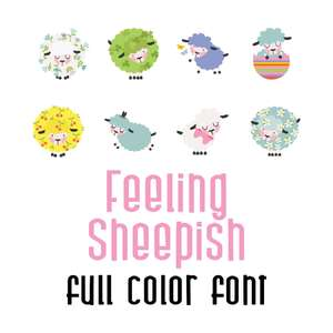feeling sheepish full color font