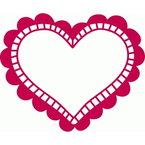 scalloped heart