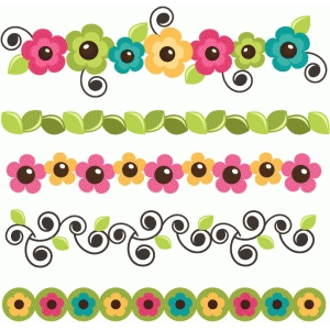 flower borders set of 5