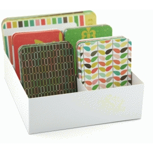 3d vertical journaling card storage box