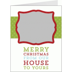 a2 merry christmas from our house print & cut card