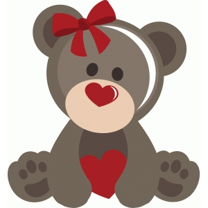 girl valentine bear