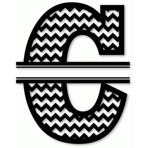 chevron split monogram c