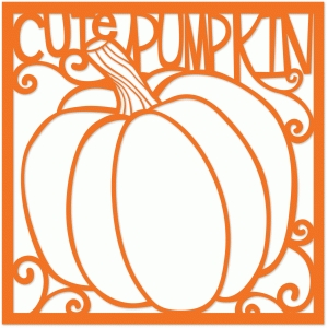 cute pumpkin 12x12 page