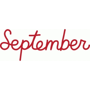 september word art