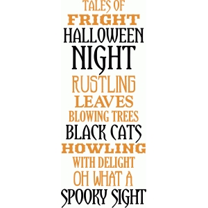 'tales of fright on halloween night' phrase