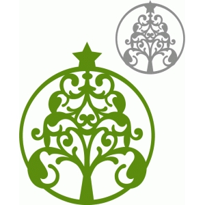 circle flourish tree ornament
