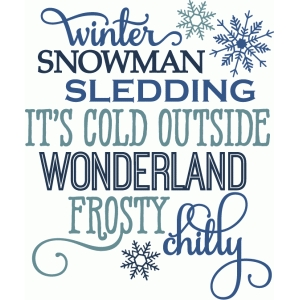 winter snow words
