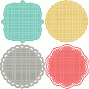 plaid doilies