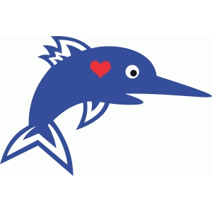 cute swordfish love