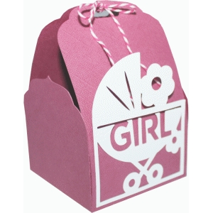 tag topper favor box - baby girl