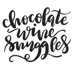 chocolate wine snuggles