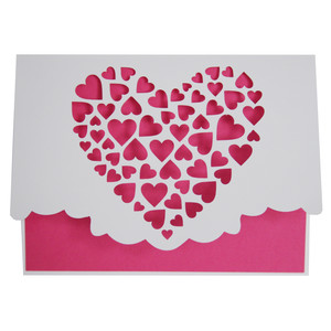 clustered hearts fold over card