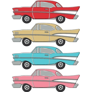 auto retro chevy print and cut