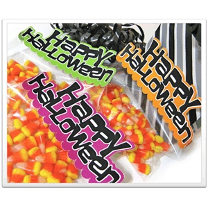 halloween party bag toppers - set of 3