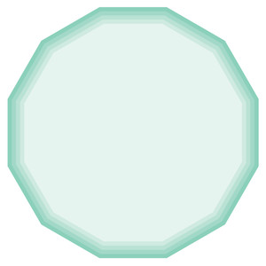 nested hexagon shapes