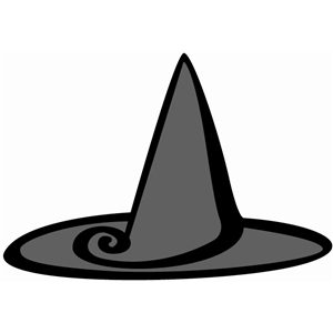 curly witch hat