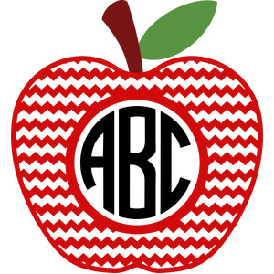 apple chevron monogram