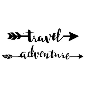adventure travel arrow words