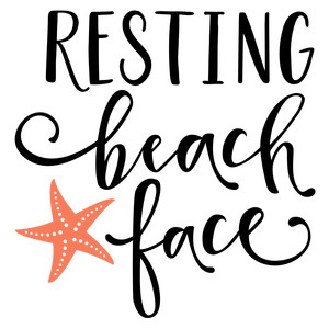 resting beach face phrase