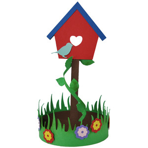 spring birdhouse decoration