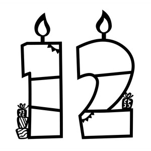 birthday photo frames (numbers 1-2)
