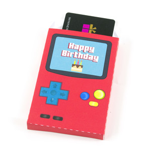 birthday video game gift card holder