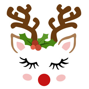 silhouette design store view design 230188 reindeer face Lips Clip Art Anrgy Bird Eyes Closed
