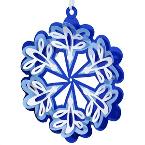 folk art ornament - snowflake