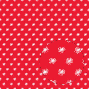 red & white starburst pattern