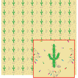 tan christmas cactus tree pattern