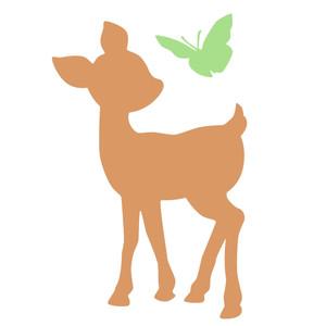 Silhouette Design Store - View Design #257888: baby deer ...