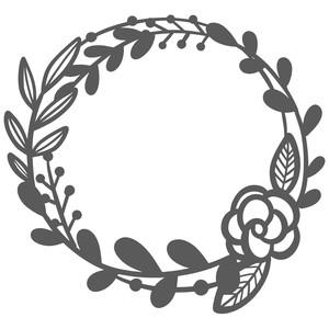 floral double stem wreath