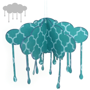 3d rain cloud varied