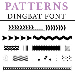 patterns dingbat font