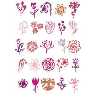flower doodle stickers