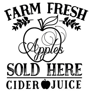 farm fresh apples sold here