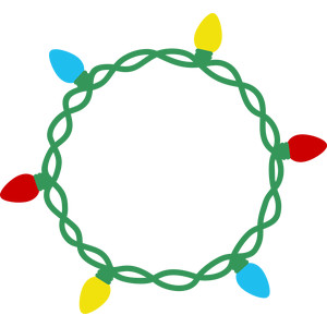 christmas lights circle frame