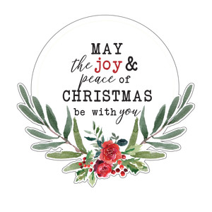 joy & peace of christmas wreath