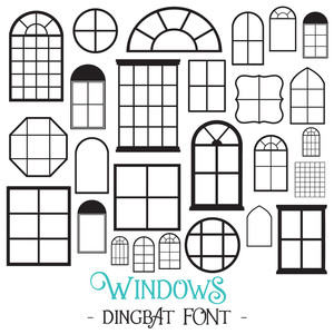 windows dingbat font