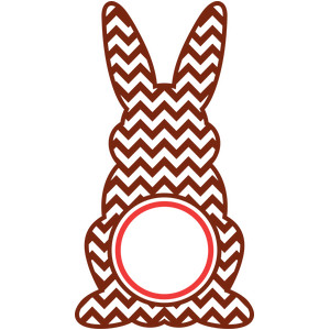 easter bunny circle chevron
