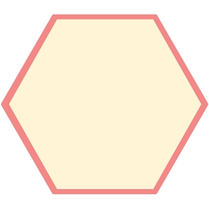 hexagon journaling card