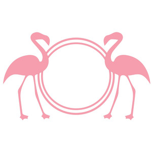 flamingo monogram frame