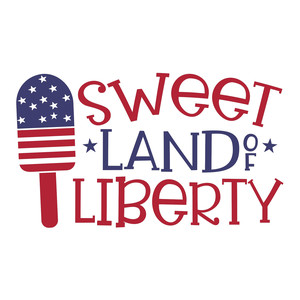sweet land of liberty - popsicle design