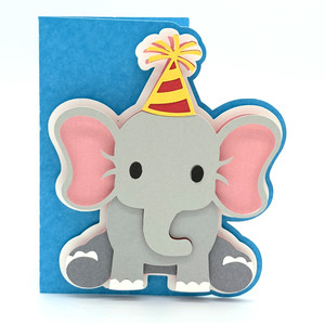 baby elephant birthday card