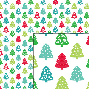nordic holiday winter christmas trees pattern