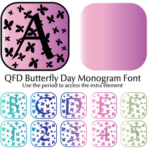 qfd butterfly day monogram font