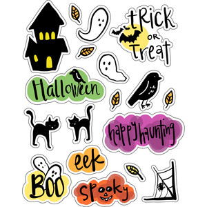ml haunted house stickers