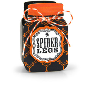 mason jar treat box spider legs